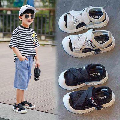 32862/男童包头凉鞋2021夏季新款软底防滑韩版男孩儿童网面小童宝宝童鞋