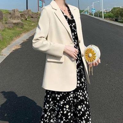 9086/西装外套女2020新款韩版百搭春秋季新款网红休闲小个子西服英伦风