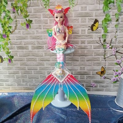 76367/美人鱼玩具人鱼公主梦幻蝴蝶仙子带翅膀洋娃娃儿童女孩生日礼物