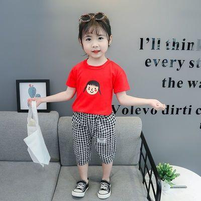 女童夏装套装小童宝宝韩版短袖休闲两件套儿童套装女夏季洋气衣服