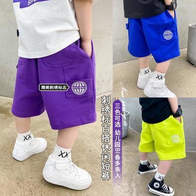 男童短裤2021夏季新款工装儿童休闲半裤中小童五分裤男孩宽松中裤