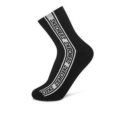 71177/Skechers斯凯奇新款字母LOGO中筒袜运动袜子男一对装L319M124