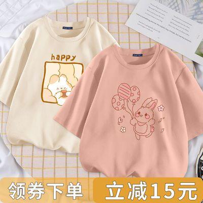 bm风上衣设计感时尚简约气质2021新款夏季潮流100纯棉百搭学生t恤