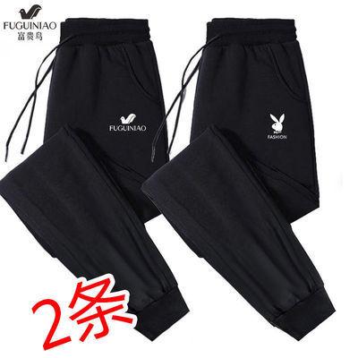 富贵鸟夏季男士薄款冰丝休闲长裤子大码运动裤弹力束脚裤男士卫裤