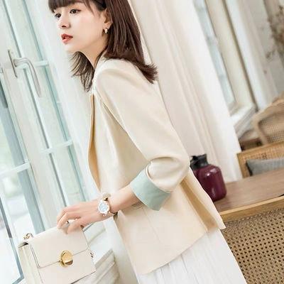 小西装女上衣韩版修身矮个子新款夏季外套洋气薄款矮个子小西服女