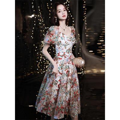 57505/小个子晚礼服裙女2021新款平时可穿宴会气质名媛高端高级质感生日
