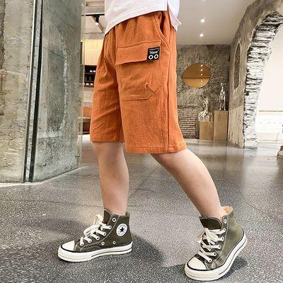 男童夏季短裤韩版休闲轻薄透气棉麻运动帅气工装裤男孩五分裤中裤