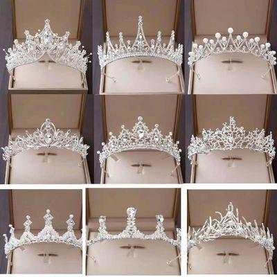 90497/皇冠头饰韩式公主闺蜜十八岁生日成人礼王冠结婚奢华大气新娘配饰