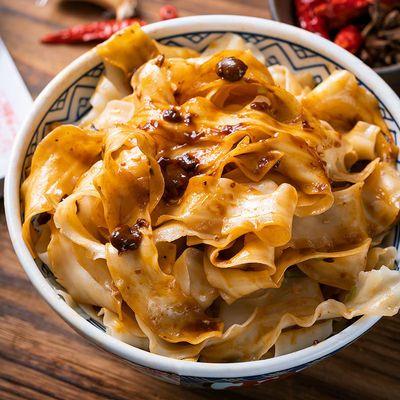 美玉麻辣红薯刀削面145*3特产方便美食储备粮挂面速食面面饼酱料