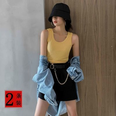 7293/背心女夏学生外穿韩版短款百搭背带运动露肚脐内穿打底潮网红爆款