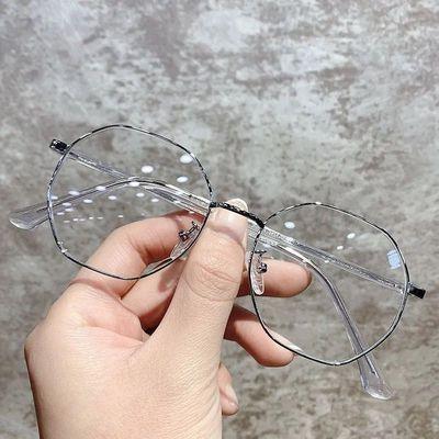 59980/超轻近视眼镜女韩版潮可配有度数学生多边形眼镜框架女大脸显瘦男