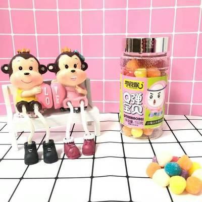 童年罐装小馒头糖果软糖Q弹宝贝零食QQ糖袋装趣味儿童休闲零食