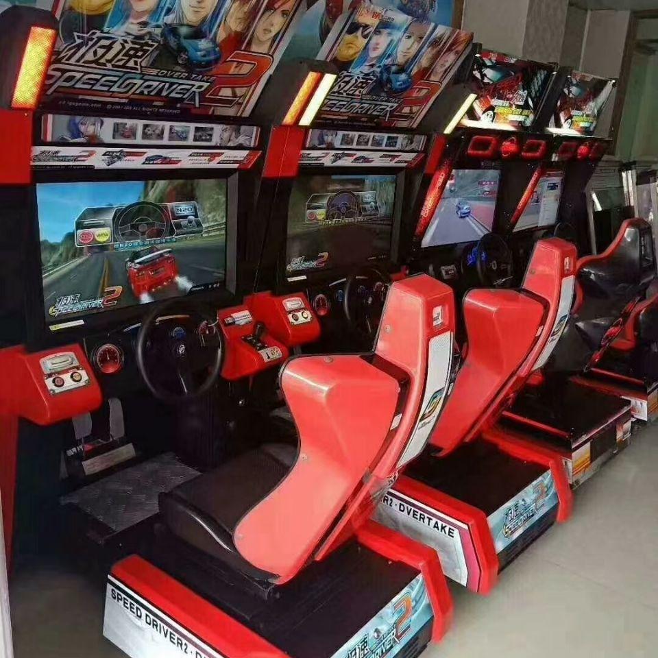 大型模拟赛车成人大型电玩热场必备款吸引人气互动成色都很新产品