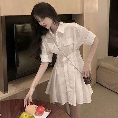 2021年新款早春法式复古小众梗桔初恋森系茶歇连衣裙小个子女夏季