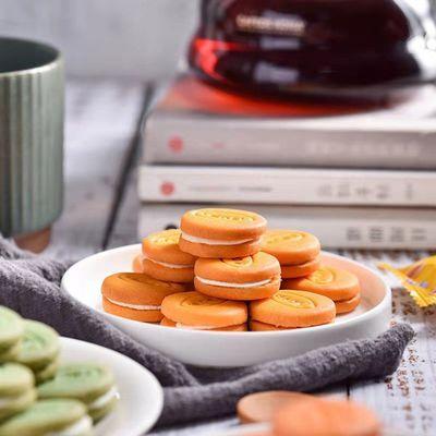 金语夹心饼干批发一箱散装马卡龙饼干一整箱多种口味饼干网红零食