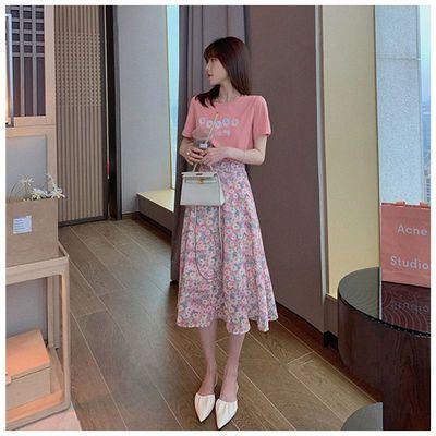 38974/网红森女裙子套装女新款2021年夏装ins超仙显瘦上衣服学生半身裙