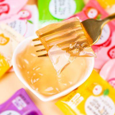 养乐星蒟蒻果汁果冻低卡零脂肪小零食解馋水果多口味魔芋布丁散装