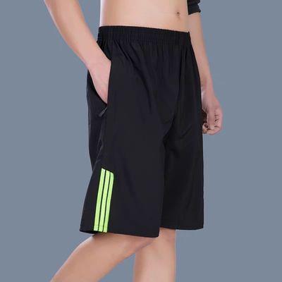23452/外穿大裤衩五分短裤男系绳直筒可下水运动冰丝速干纯色沙滩空调裤