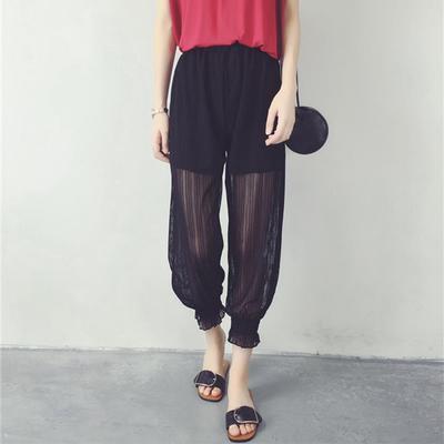 冰丝防蚊裤大人女夏季薄款宽松束脚凉凉休闲速干裤