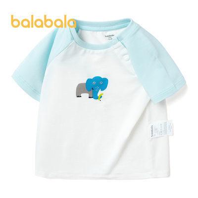 巴拉巴拉婴童T恤2021年夏季新款婴童舒适透气圆领短袖T恤