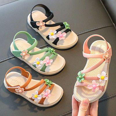 新款女学生夏季凉鞋儿童公主鞋软底女童沙滩鞋小中童百搭韩版凉鞋
