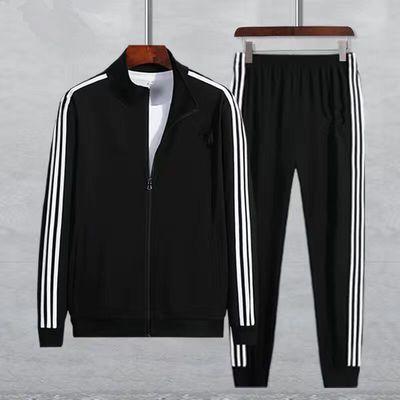 57539/春季卫衣卫裤运动套装男青年潮流立领大码长袖两件套潮牌小脚裤