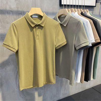 48969/莫迪兰新色POLO衫翻领珠地棉短袖男士韩版修身纯色2021新款T恤潮
