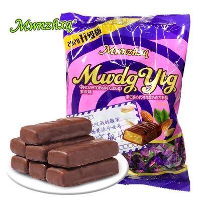 36802/紫皮糖巧克力夹心糖果475g/袋网红特色零食喜糖新老包装随机发