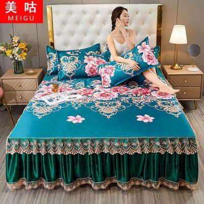 夏凉席冰丝席床裙床罩1.2米两件套1.8米三件套双人可机洗空调软席