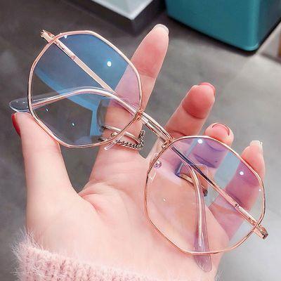 64321/超轻近视眼镜框架女韩版潮有度数学生多边形平光镜大脸显瘦男眼睛