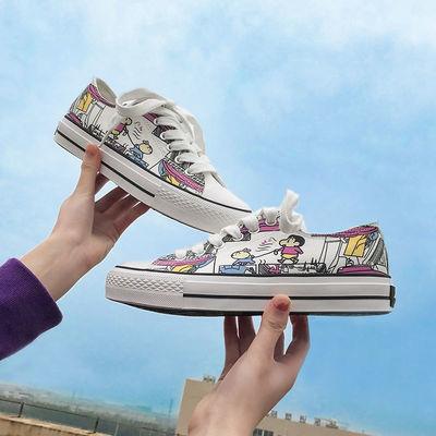 22159/变色帆布鞋女2021年新款夏韩版ulzzang学生低帮百搭小白板鞋ins潮