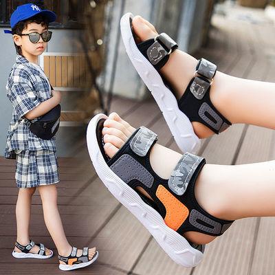 34840/2021新款儿童凉鞋男夏季韩版防滑软底沙滩迷彩男童凉鞋