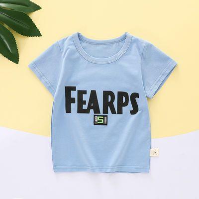 儿童短袖2021夏季新款婴童棉质半袖单件套装