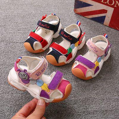 39908/夏季新款儿童凉鞋不露脚趾百搭童鞋男童女童宝宝包头沙滩鞋机能鞋