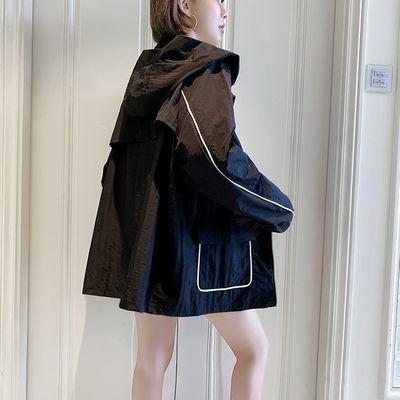 21491/高档连帽防晒衣女2021新款夏季薄款短款防紫外线宽松韩版学生骑车