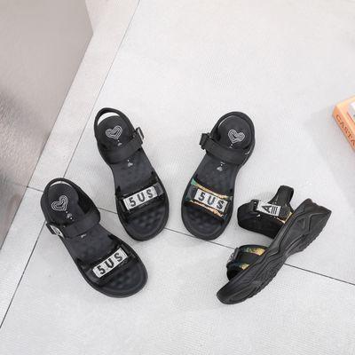 75317/凉鞋女鞋2021夏季新款潮流凉拖鞋魔术贴户外沙滩