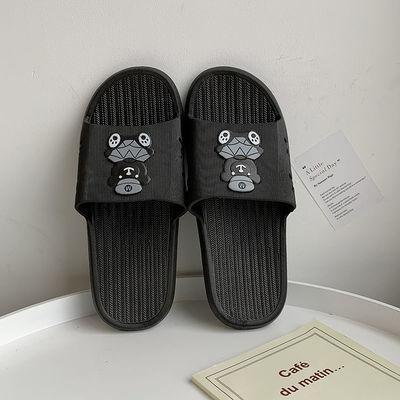 新款拖鞋女夏外穿软底韩版防滑室内情侣居家浴室拖鞋男一字凉拖鞋