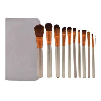 化妆刷套装软毛眼影刷子12支化妆刷初学者动物毛全套美妆工具散粉