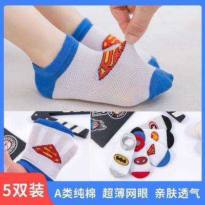 儿童袜子夏季超薄纯棉透气吸汗卡通个性船袜男童女童中大童宝宝袜