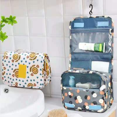旅行出差收纳包大容量挂钩洗漱包男女化妆包防水便携可折叠整理包