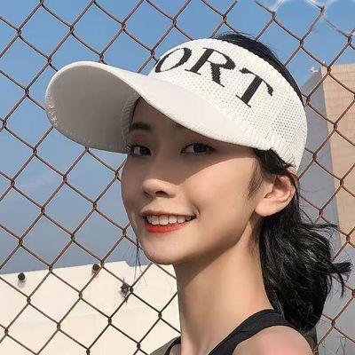 帽子女新款百搭男夏季鸭舌帽防晒太阳帽洋气空顶帽网红露顶遮阳帽