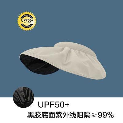 34305/韩国贝壳帽空顶帽女太阳帽夏季发箍式黑胶遮阳帽防晒帽子防紫外线