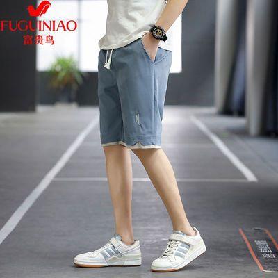 富贵鸟男士短裤2021年新款夏季潮流宽松五分中裤休闲薄款裤子韩版