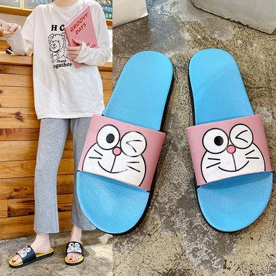 2021夏季新款可爱卡通叮当猫拖鞋室内浴室防滑拖鞋女