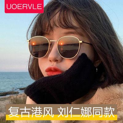37373/圆框复古太阳镜时尚金属镜框墨镜女韩版眼镜遮阳太阳眼镜防紫外线