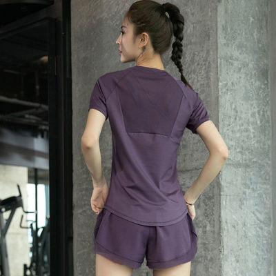 夏季显瘦健身服套装女高弹透气薄款运动跑步专业速干训练衣大码