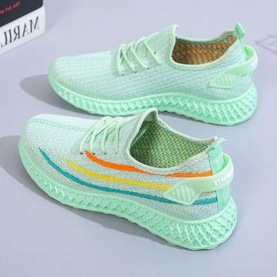 36345/2021椰子女鞋春季新款网面运动鞋韩版百搭跑步鞋轻便透气休闲鞋女