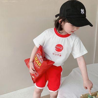 2021夏季新款童装儿童网红短袖两件套男女童卡通套装休闲短裤夏装