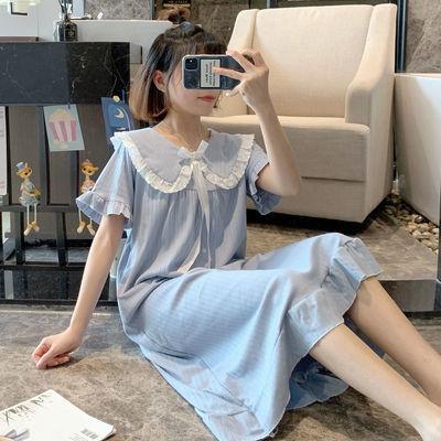 41236/睡衣女夏短袖睡裙甜美可爱学生韩版公主风新款大码家居服
