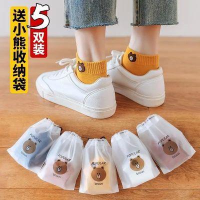 袜子女韩版学生夏季薄款短袜女浅口潮流可爱小熊百搭透气日系袜子
